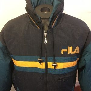 Fila Men's Large Insulated Hooded Jacket